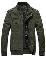 Jinmen Men's Military Style Air Force Jacket Military Coats
