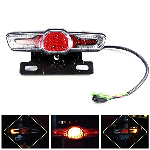 Greenergia Bicycle Rear Lights 36V48V Electric Vehicle Self-Flashing Triple-in-one LED Rear Lights Night Warning Lights