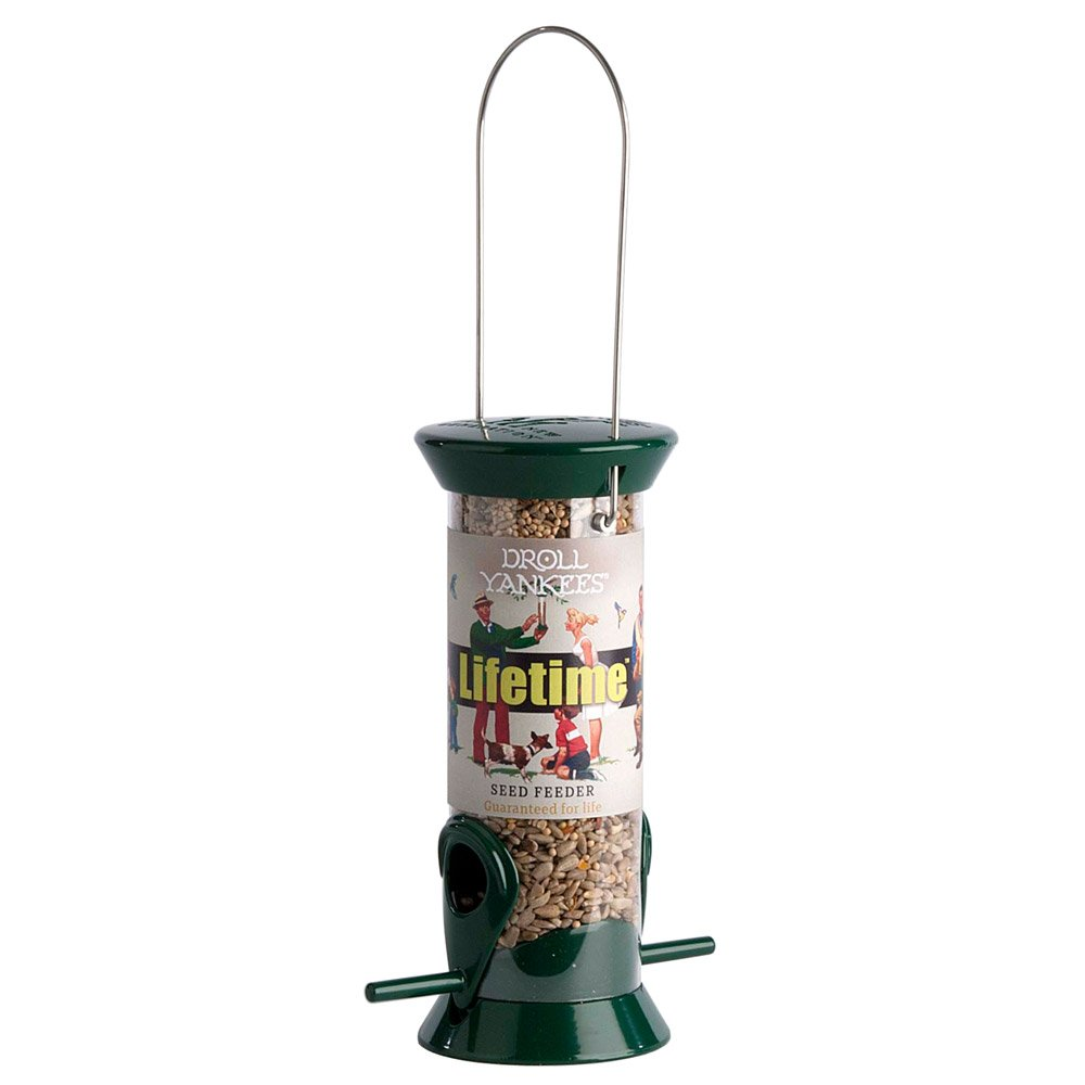 Droll Yankees Bird Feeders Sunflower Heart & Seed Mixes Hanging Feeder Tube for Small Birds by Happy Beaks (2 Port)