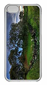 iPhone 5C Case, Personalized Custom Summer Landscape Nature for iPhone 5C PC Clear Case