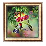 Arts & Crafts : Delight eShop Flowers 5D Diamond Embroidery DIY Craft Painting Cross Stitch Mosaic Home Decor