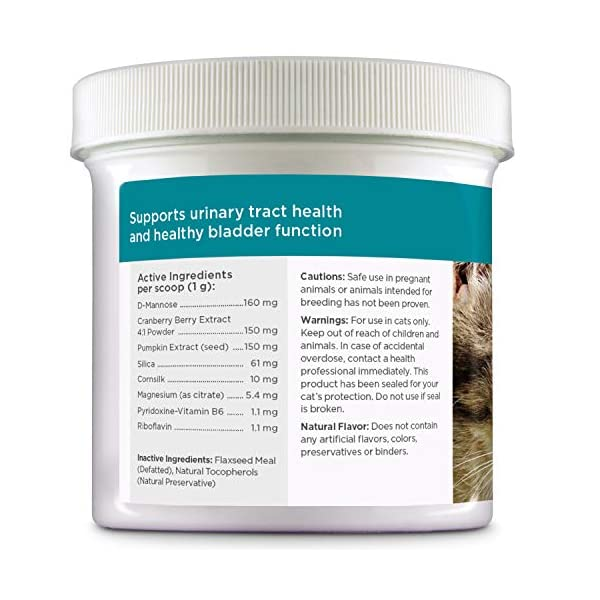 maxxicat – maxxiUtract Urinary and Bladder Supplement for Cats – Helps Prevent UTI Recurrence, Support Feline Bladder Control and Urinary Tract System Health – Cranberry Formula Powder 2.1 oz 6