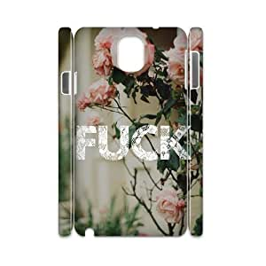Custom Cover Case with Hard Shell Protection for Samsung Galaxy Note 3 N9000 3D case with fuck flowers lxa#275699