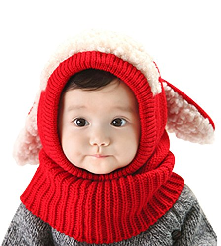 Aimeio Winter Baby Hat and Scarf Joint With Dog Style Cro...