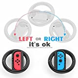 Joy-Con Steering Wheel for Nintendo Switch Controller, Racing Wheel Handle for Mario Kart - Super Light Version (Set of 2)