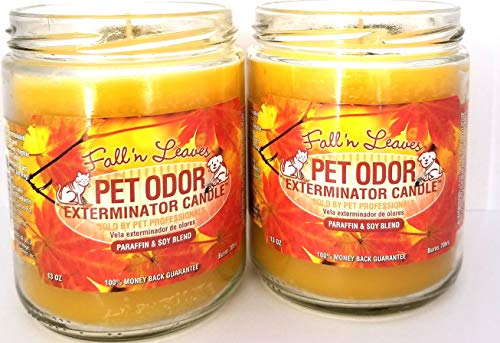 Specialty Pet Products Pet Odor Exterminator Candle, Fall 'N Leaves - Pack of 2