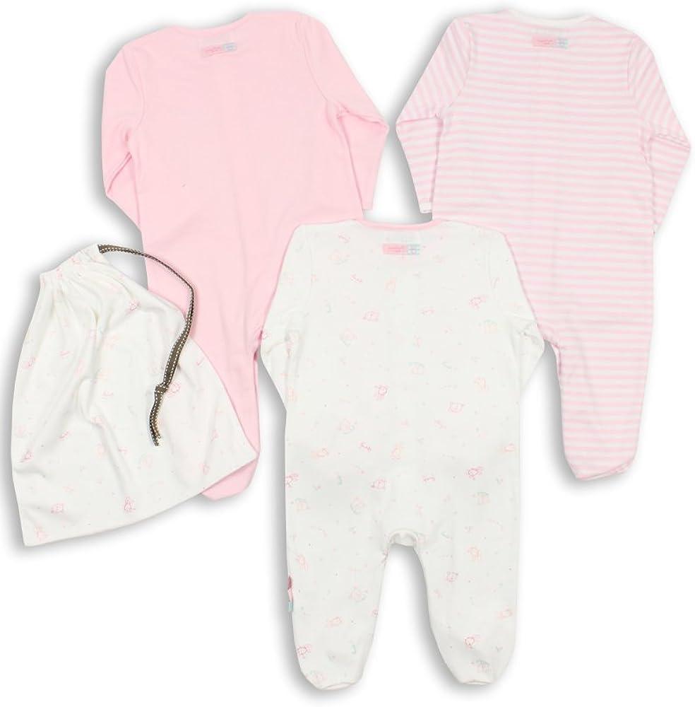 The Essential One ESS74 3-er Pack mit Beutel Baby M/ädchen Schlafanzuge//Schlafanzug//Einteiler//Strampler