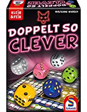 Schmidt Spellen 49357 Dubbel zo slim, kubusspel uit de serie Klein & Fein, kleurrijk