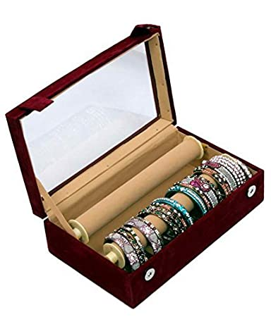 Amazon.com 2 Rods Transparent Bangle Organizer Box Velvet Coated Jewelry Storage Case Standard Multi Home u0026 Kitchen  sc 1 st  Amazon.com & Amazon.com: 2 Rods Transparent Bangle Organizer Box Velvet Coated ...