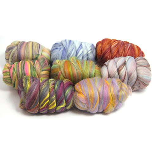 Felting Wool - Merino and Dyed Bamboo Wool Fibre (200g (Large))