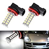 CCIYU 2 Pack Xenon White 68-SMD 3528 Chipsets H8 H11 LED Bulbs for Fog Lights 12V