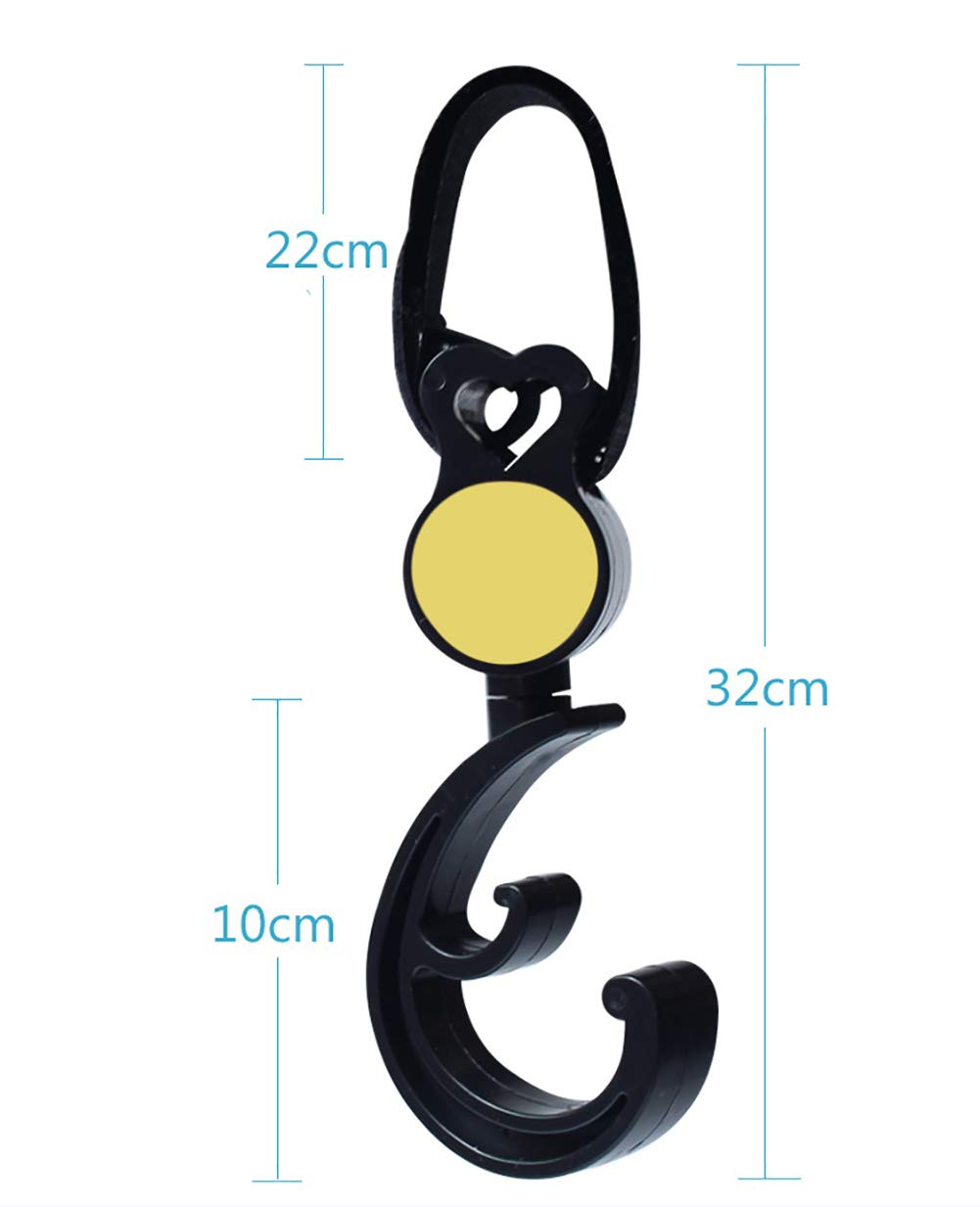 Purse 2 Pack of Multi Purpose Hooks Great Accessory for Mommy When Jogging yellow Groceries Walking or Shopping /… Clothing Stroller Hook Hanger for Baby Diaper Bags