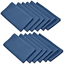 LinenTablecloth 17-Inch Polyester Napkins (1-Dozen) Navy Blue