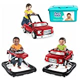 NEW! Bright Starts 3 Ways to Play Baby Activity Walker Ford F-150 in Red with Hypoallergenic Baby Wipes
