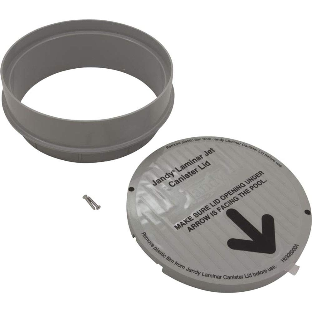 Zodiac JLPWTR Jandy Pewter Lid and Collar Replacement for Zodiac Jandy Laminar Jet Water Designs by Zodiac