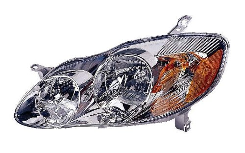 2003 Headlight Lh Driver - Depo 312-1160L-AS1 Toyota Corolla Driver Side Replacement Headlight Assembly