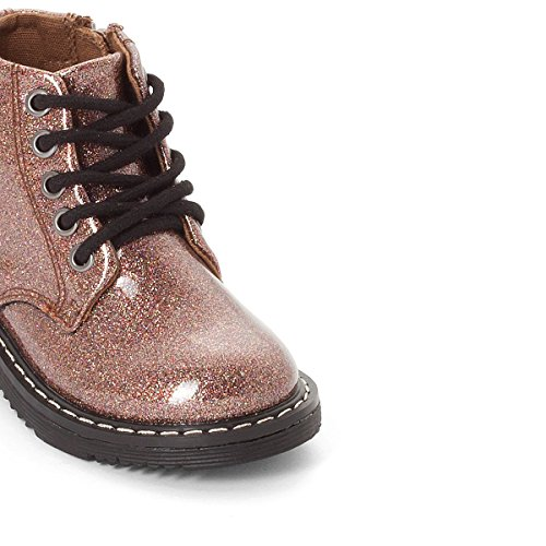 La Redoute Collections Big Girls Glitter Ankle Boots, 19-25 Multi-coloured Brown