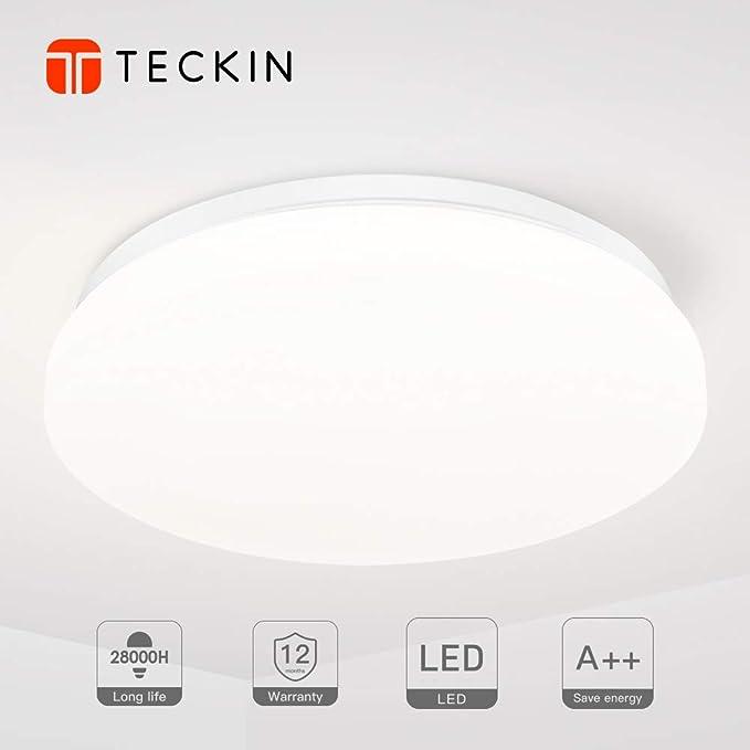 Deckenleuchte,TECKIN 24W LED Deckenlampe Balkonleuchte Innenleuchte ...