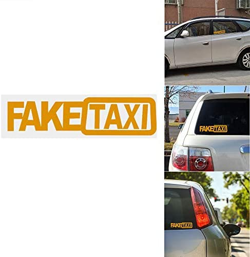 ONEVER Autoadesivo Drift Turbo Hoon FALSO Race Car TAXI divertente Sticker Decal 1pcs