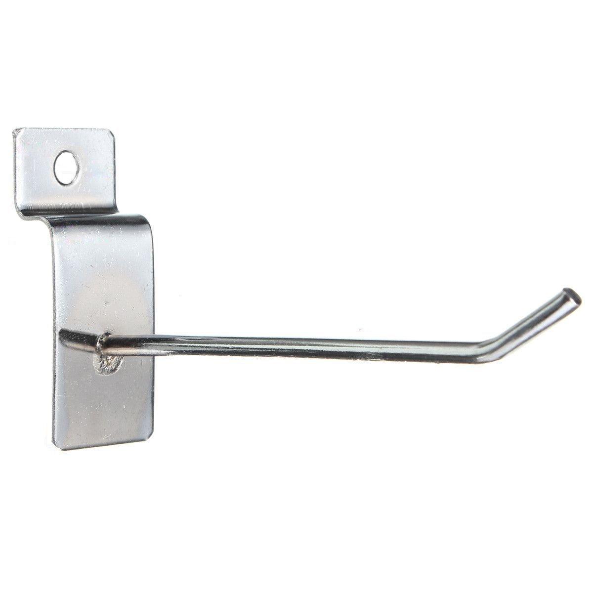 Single pegboard hooks - SODIAL(R) 25 x Slatwall Single Hook Pin Shop Display Fitting Prong Hanger 100mm SPHAGT49816