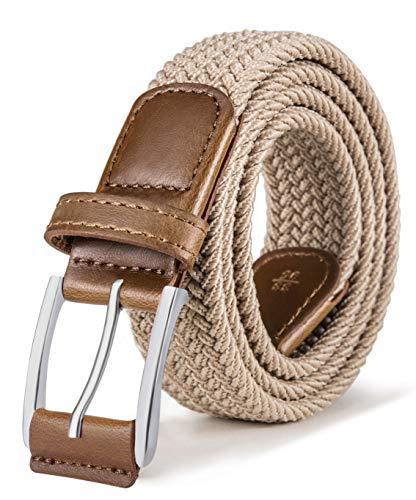 Stretch Belt Men,Bulliant Mens Woven Stretch Braided Belt 1 3/8,Multicolors