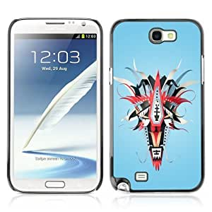 Designer Depo Hard Protection Case for Samsung Galaxy Note 2 N7100 / Abstract Colorful Mask