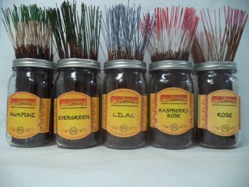 - WILDBERRY Incense Sticks Florals & Greens Scents Set #2: 20 Sticks Each 5 Scents, Total 100 Sticks!
