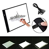 Drawing Light Box, A3 LED Ultra Slim Art Craft Drawing Tracing Tattoo Light Box Pad Board Lightbox with USB Cable