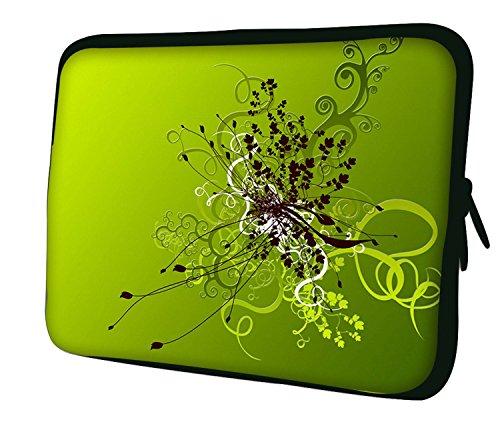 Ektor, Men's Shoulder Bag Green Flowers Artwork