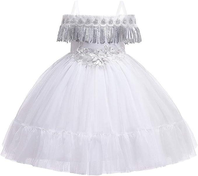 Brillanto Vestido de Flecos Niña 3-9 años Vestido Niña Princesa ...