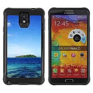 "Hypernova Defender Series TPU protection Cas Case Coque pour SAMSUNG Galaxy Note 3 III / N9000 / N9005 [Naturaleza Paradise Island""]"