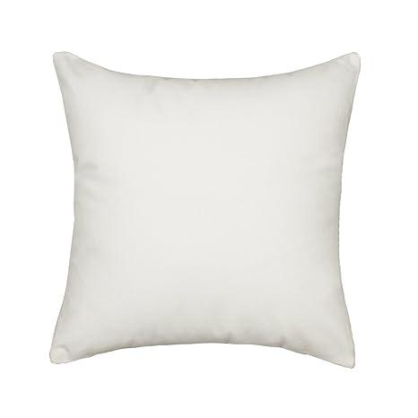 Amazon.com: Funda de almohada de color blanco macizo de ...