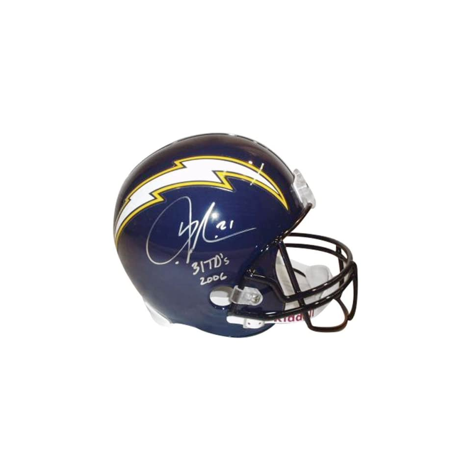 LaDainian Tomlinson San Diego Chargers Autographed Navy Riddell Deluxe Full Size Replica Helmet with 31 TDs 2006 Inscription