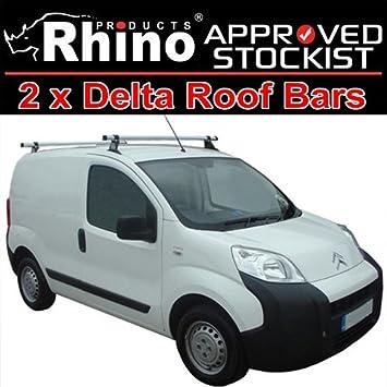 Van Roof Racks >> 2 X Rhino Delta Van Roof Rack Bars To Fit Peugeot Bipper 2015 Wb2d