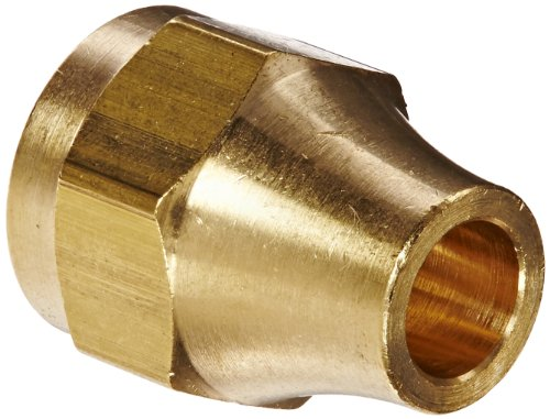 (Eaton Weatherhead 1110X4 Brass CA360 SAE 45 Degree Flare, Nut, 1/4