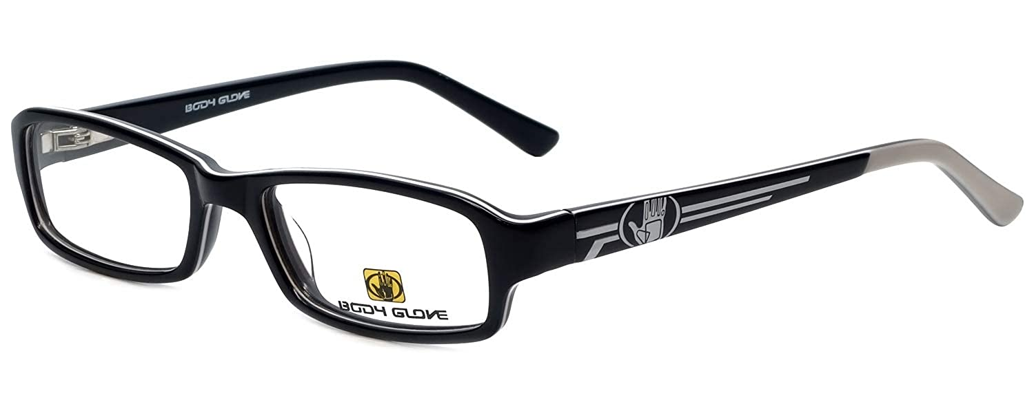 e617687e6c Amazon.com  Body Glove Designer Eyewear Frame BB128 in Black 49mm KIDS  SIZE  Clothing