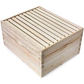 Amazon.com : Honey Keeper Beehive 10 Frame Kit Super Box and 10 Deep ...