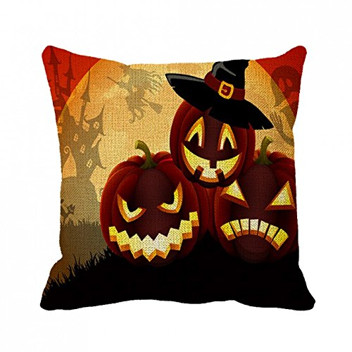 July Pillowcase Happy Halloween My Love Quotes Pillow Cover 20inch