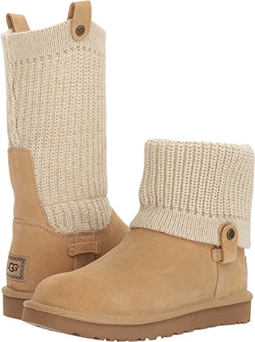 UGG Womens Saela Cream 8 B - Medium (Ugg Footwear Cozy)