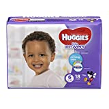HUGGIES LITTLE MOVERS Diapers, Size 6 (35+ lb.), 18 Ct, JUMBO PACK (Packaging May Vary), Baby Diapers for Active Babies