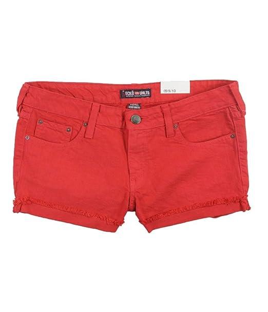 2f10562736 Ecko Unltd. Womens Fold-up Y Cutoff Casual Denim Shorts Red 13/14 ...