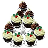 Stainless Steel 3 Tier Cupcake Stand Holder Display Party Wedding Birthday Tree Tower Dessert Stand