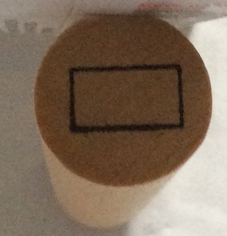 Mini Rectangle Stamper - Wood Mounted Rubber Stamps
