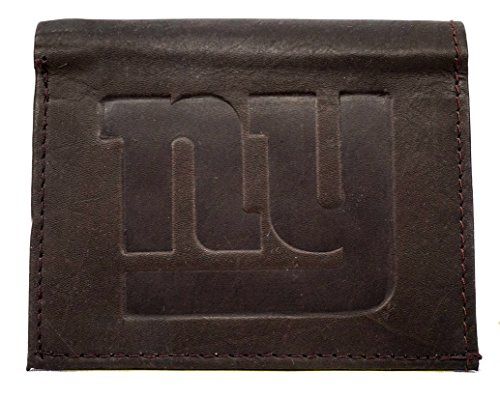 - Rico NFL New York Giants Tri-Fold Leather Wallet, Brown