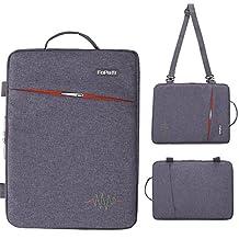 "FOPATI 13 - 13.3 inch Laptop Sleeve Case Vertical Slipcase with Handle & Shoulder Strap Messenger Bag for Macbook Air 13/ iPad Pro / Lenovo HP ASUS Dell Acer Ultrabook Samsung Chromebook 13"" -D Grey"
