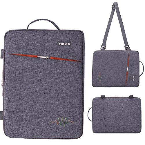 FOPATI 14/ 15 Inch Laptop Sleeve Vertical Slipcase Shoulder Bag Messenger Case for Apple Macbook Air 15.4