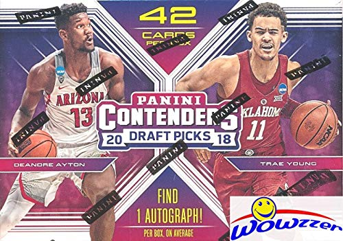 2018/19 Panini Contenders Draft Picks Basketball Factory Sealed Retail Box with AUTOGRAPH! Look for Rookies & Auto's of Deandre Ayton, Luka Doncic, Trae Young, Marvin Bagley & Many More! - Sports Panini Cards