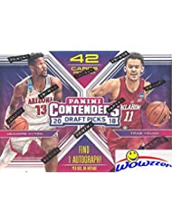 2018/19 Panini Contenders Draft Picks Basketball Factory Sealed Retail Box with AUTOGRAPH! Look for Rookies & Auto's of Deandre Ayton, Luka Doncic, Trae Young, Marvin Bagley & Many More! WOWZZER!