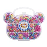 MAZIMARK--Kids Educational Bear Head Shape Box Beads Toys Gift Handmade DIY Training