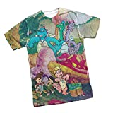 Meadow Gang -- Dragon Tales All-Over Front Print T-Shirt